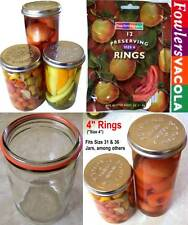 New FOWLERS VACOLA Size-4 RINGS/SEALS for Jars 31,36,65