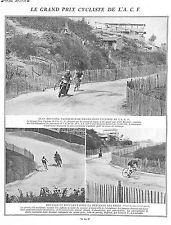 GRAND PRIX CYCLISTE ACF JEAN BRUNIER BEFFARAT CIRCUIT DE LYON ILLUSTRATIONS 1924