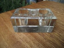 Ink Well Insert - Art Deco Clear Glass - Ideal Replacement