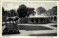 Bad Nauheim Hessen alte s/w AK ~1920/30 hessischer Löwe im Sprudelhof ungelaufen