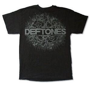 Deftones Floral Burst Image Black T Shirt New Official