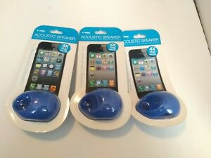 3 VIBEACOUSTIC SPEAKERS NEW SEALED 4X AMPLIFIED SOUND COMPATIBLE IPHONE 4/4S