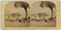 Italia L Isola Dei Pescatori Foto Lamy Stereo Th2n61 Vintage Albumina c1875