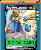 Zacian V 138/202 Sword and Shield PTCGO Online Digital Card