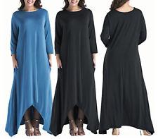 Vestito Donna Abito Lungo a Tunica L-XXXL - Woman Maxi Tunic Dress 110327C P