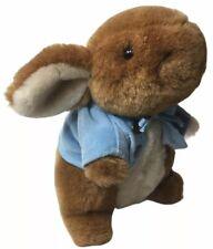 "Vintage EDEN Plush RABBIT BUNNY Stuffed Animal Blue Coat 7"""