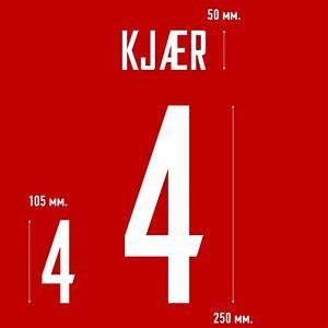 Kjaer 4. Denmark Home football shirt 2021 - 2022 FLEX NAMESET NAME SET