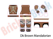 Lego Star Wars Custom Mandalorian Water Slide Decal - New Dark Brown Mandalorian