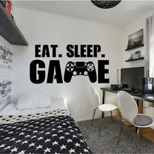 Gamer wall decal Eat Sleep Game wall decal Controller video game wall decals Cus