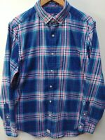 Vineyard Vines Medium Classic Fit Murray Shirt Blue Pink Plaid
