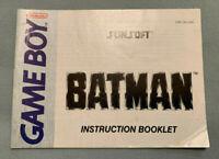 BATMAN - Nintendo Game Boy Sunsoft Video Game Manual ONLY (No Cartridge) - RARE!
