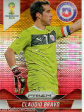 2014 World Cup Prizm Yellow Red Parallel No.41 C.BRAVO (CHILE)