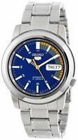Seiko 5 SNKK27 Automatic Day-Date Blue Dial Stainless Steel Men's Watch SNKK27K1