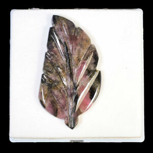 167 Cts Certified Natural Tourmaline Carved Leaf Rare Huge Untreated Gemstone