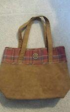 Longaberger Purse Handbag Tote Brown Plaid