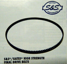 "S&S GATES HIGH STRENGTH 1 1/2"" 133 TOOTH FINAL DRIVE BELT FOR HARLEY MODELS"