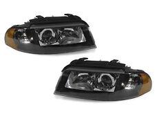 99-01 Audi A4 / 00-02 S4 B5 Xenon D2S Projector Black Headlights Amber Reflector
