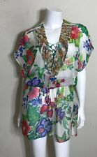 Caffé Swimwear Silk Floral Embellished Cover Up Size S