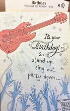 "Friend Happy Birthday Card w/ Music ""ROCK and ROLL ALL NITE""  by KISS HALLMARK"