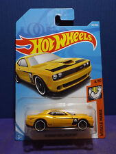 2018 Hot Wheels '15 DODGE CHALLENGER SRT in YELLOW - HW Muscle Mania car. 4/10.