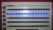 3 Flexible Blue 15 LED Weatherproof 12v DRL Strip Mood light Car Boat Motorbike