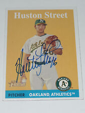 HUSTON STREET SIGNED AUTO'D 2007 TOPPS HERITAGE CARD #161 OAKLAND ATHLETICS