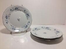 HAVILAND BAVARIA BLUE GARLAND 3 Bread & Butter Plates * (WC)