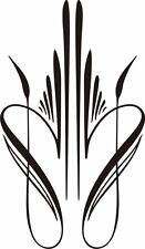 Custom Graphic Center Scroll Pinstriping Decal #33  Pair (2 Decals)  6.50 X 3.75