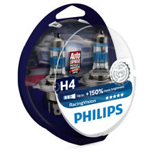 Philips Racing Vision RacingVision 150% H4 Headlight Bulbs (Twin) 12342RVS2
