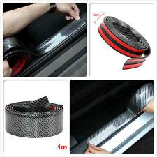 Car Black Carbon Fiber Rubber Edge Guard Strip Door Sill Protector Accessories
