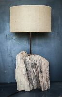 Chunky Driftwood Lamp,Rustic trunk wood Lamp,Drift Wood Lamp, Lamp Base only