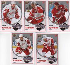 2010-11 UD Hockey Heroes Steve Yzerman lot of 5
