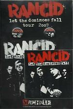 RANCID Let The Dominoes Fall tour 2009 PACK patch sticker 2 x badge (sealed)