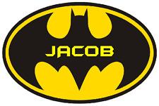 BATMAN PERSONALISED A4 IRON ON TRANSFER BATMAN SUPER HERO A4 TRANSFER 5 COLOURS