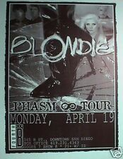 "Blondie 2004 San Diego ""Phasm 8 Tour"" Concert Poster - Debbie Harry, New Wave"