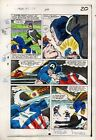 1984 Captain America 295 page 20 Marvel Comics original color guide art: 1980's