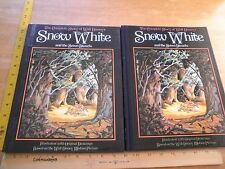 Complete Story of Disney's Snow White & Seven Dwarfs HBDJ book 1987 Abrams