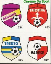 136 REGGINA - TRIESTINA - TRENTO - VARESE CARD CARTA CALCIO QUIZ VALLARDI 1991