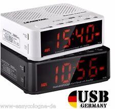 Radio Wecker  Bluetooth Freispechfunktion SD Slot Akkubetrieb AlarmClock