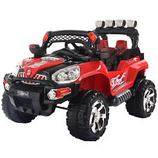 12V Kids Ride On Truck Car SUV RC Remote Control w/LED Lights MP3 Christmas Gift