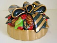 2 Set Holiday Christmas CANDLE TOPPERS Red Gold GREEN Langley Empire Pine CONE