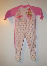 Vintage Strawberry Shortcake child's foot pajamas pjs