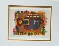 "Friedensreich Hundertwasser ""Good-Bye From Africa"" Matted Offset Lithograph 1986"