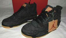 Nike Air Jordan IV 4 Retro Levi's NRG GS Denim Black Gum AQ9103 001 Size 7Y
