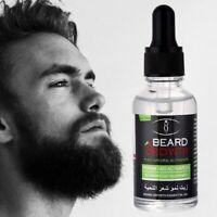 100% Natural Beard Mustache Body Chest Hair Growth Oil Wax Balm Conditioner 30ml