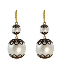 Kate Spade Japanese Pearls Earrings NWT Florence Broadhurst Collection Beauty!