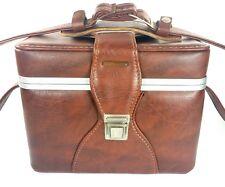 Vintage Eldorado Style Saddle Brown Camera Hard Case Bag with Strap GUC Has Wear