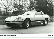 Datsun Nissan 280ZX Turbo Original 1983 Press Photograph Front/Side View