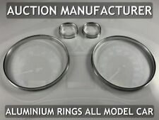 Seat Cordoba II 2002-2010 Polished Aluminium Trim Rings Instrument Cluster 4pcs