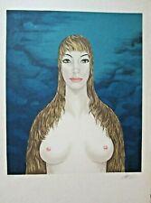 """Felix Labisse Original color lithograph S/N. Ltd. Ed.  """" CHRISTOPHAÏS"""""""